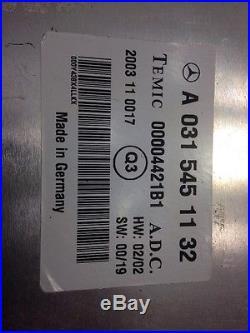 00-06 Mercedes W220 S430 S500 S55 S600 CRUISE CONTROL MODULE COMPUTER OEM