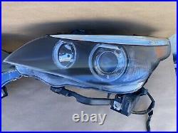 04-07 BMW E60 525i 545i 530i M5 Dynamic Xenon HID Headlights Assembly Pair L&R