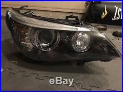 08-10 BMW 5-Series M5 XENON HID Complete Headlights Pair OEM