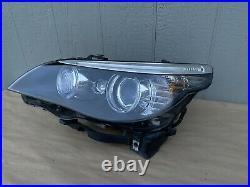 08-10 BMW E60 E61 528I 550I M5 OEM Left Dynamic Xenon HID Headlight Assembly
