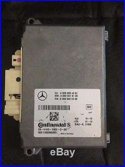 10-13 Mercedes S550 S63 S65 CL600 CL550 CL63 Cruise Control Module 0009004601