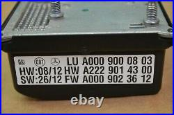2014 W212 Mercedes E63 Amg Cruise Distance Sensor Control Module 0009000803