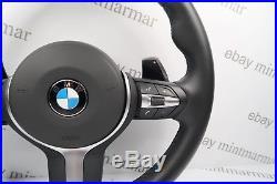 Bmw X5 M Tech Sport Lenkrad Shaltwippen Vibronic Viber LIM Leder F15 #48