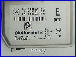 Oem Mercedes Gle Gls X166 C292 Cls E Lane Assis Front Camera Control Module