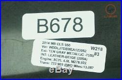+b678 W218 Mercedes 12-18 Cls Class Adaptive Distance Cruise Control Module